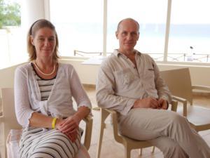 Hugo und Susanne im Vortrag auf den Kapverden