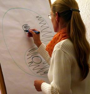 Susanne beim Vortrag
