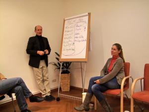 Hugo und Susanne im Vortrag