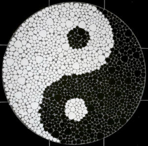 Fliesen Yin-Yang