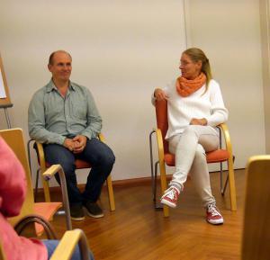 Hugo und Susanne im Heilkjundezentrum